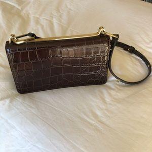 NWOT & Other Stories Croc Embossed Leather Bag